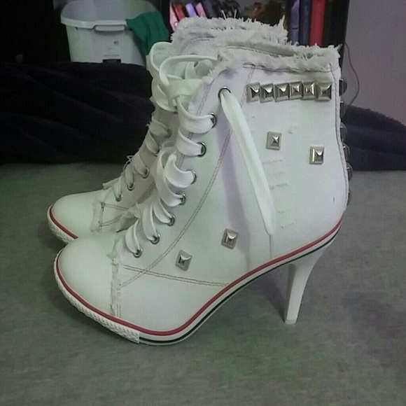 c4fc4081730 White Converse Heeled Boots